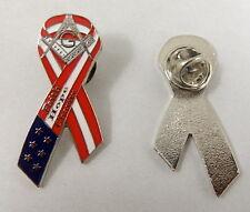 Masonic Ribbon Lapel Pin