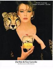 PUBLICITE  1983   J'AI OSE  parfum   de GUY LAROCHE