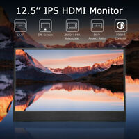 """12.5"""" MINI HDMI 2K IPS Monitor 2560X1440 for Gaming PS4 Entertaining DVD Player"""