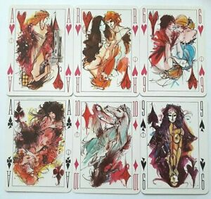 VINTAGE PLAYING CARDS FORTUNE TELLING GRIMAUD EROTIC 36+1 DECK + INST SHEET 1971