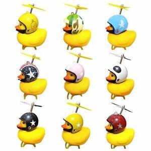 Propeller Helmet Duck With Helmet Breaking Duck Bicycle Horn Helmet Yellow Duck