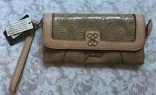 GUESS NWT Taupe Large Zip Around Wallet Wristlet