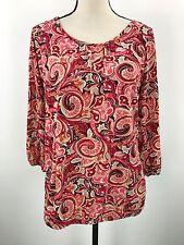 Style & Co Women's SIZE LARGE Nylon Stretch Shirt Multi-Color