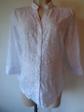 NEW LOOK BLOOM MATERNITY WHITE FLOWER SEQUIN DETAIL BLOUSE SHIRT TOP SIZE 12