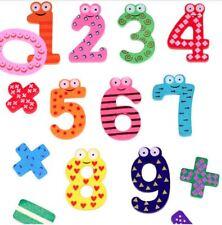 Kid Wooden Montessori Toy Learning Brain Development Fridge Magnet Maths