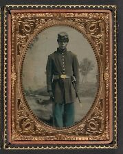 Photo Civil War Union African American Soldier With 103rd Regiment Forage Cap
