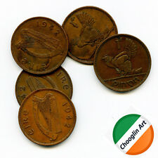 (x5) 1942 Irish Bronze PENNY coins