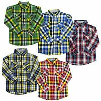Kids Check Shirts Long Sleeves Plaid Cotton Formal-Casual Shirt Tops,2 to 12 yrs
