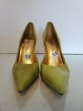 Guess By Marciano Shoes Women Heels Stiletto Green Animal Print 8.5