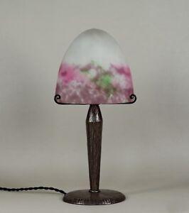 MULLER FRERES : FRENCH 1930 ART DECO LAMP .........  wrought iron fer forgé 1925
