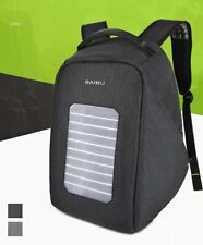 Waterproof Laptop Solar Powered Backpack USB Charging Anti Theft Outdoor Bags