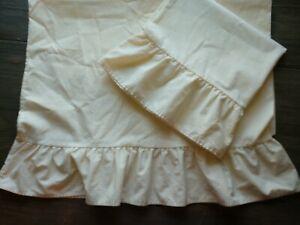 2 Springs Yellow Gingham Check Ruffle Pillowcase
