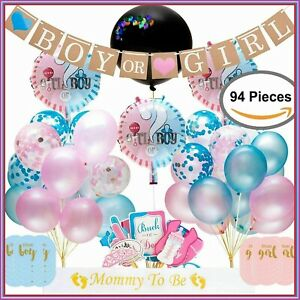 Balloons Confetti Gender Reveal Party Tableware Decorations Tableware