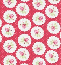 Tanya Whelan Lulu Roses Fabric - Lotti-red