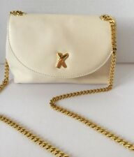 Paloma Picasso Cream Off White Leather CrossBody Purse Shoulder Bag Clutch Chain