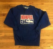 Vintage Indianapolis 500 Sweatshirt /Indy 500 Blue Embroidered Sweatshirt Men L