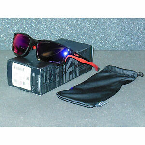 New/Blem Oakley Chainlink Sunglasses Grey Smoke/Red Iridium POLARIZED Chain Link