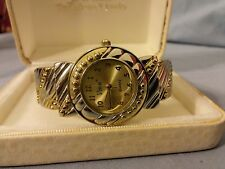 Vivani Silver And Gold Tone Ladies Bangle Quartz Watch Japan Movt