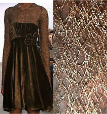 P-S08100 Exquisite French Metallic Net Fabric Gold/Brown per Yard