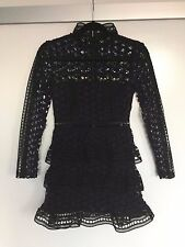 NWT: Self Portrait Star Lace-Paneled Mini Dress (US4/UK8)