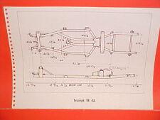 1970 VOLKSWAGEN KARMANN GHIA BEETLE 1967 TRIUMPH TR4A FRAME DIMENSION CHART