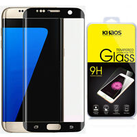 For Samsung Galaxy S7 Edge Full Cover Tempered Glass Screen Protector [Black]