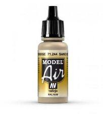 VAL71244 AV Model Air 17ml Sand Beige Vallejo Model Airbrush Paint 17ml bottle