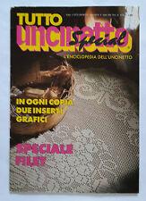 TUTTO UNCINETTO SPECIAL L'INCICLOPEDIA DELL'UNCINETTO n. 9 ANNO 1985