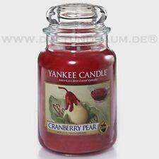 Yankee Candle Jar Glaskerze groß 623g Cranberry PEAR