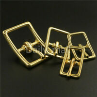 Brass Middle Center Bar Buckle For Strap Bridle Halter Harness Adjustment Buckle