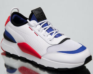 Puma RS-0 Sound New Men's Lifestyle Shoes White Dazz Blue High Red 366890-01