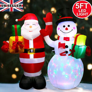1.5M Giant Christmas LED Inflatable Snowman Santa Xmas Blow Toy Outdoor Decor UK