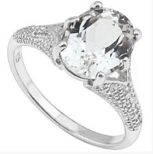 Women's White Topaz and diamond ring