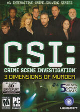 CSI 3 DIMENSIONS OF MURDER 5 Mystery Cases Game NEW BOX