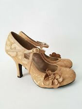 NEW Ruby Shoo Elsy Shoes Gold Lace Bridal Occasion Mary Jane UK 7