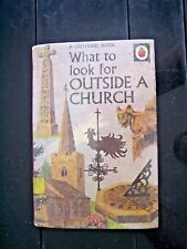 BOOK, LADYBIRD, CHURCH, , WHAT TO LOOK FOR OUTSIDE CHURCH, CHILDREN'S, VINTAGE