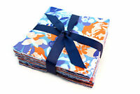 "Moda Voyage Blue  pre cut charm pack 5"" squares 100% cotton fabric quilt"