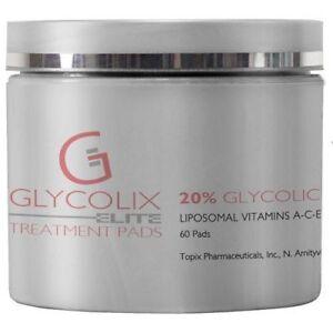 Glycolix Elite 20% Glycolic Acid Treatment Pads, 60 Count - Topix - New & Fresh