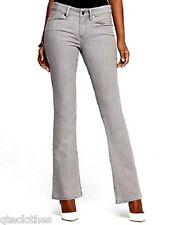 ANNE KLEIN $139 NEW Tummy-Slimming Curvy Fit Bootcut Grey Wash Jeans 4 L33 QCO