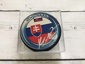 Marko Dano Signed Autographed Team Slovakia Hockey Puck a
