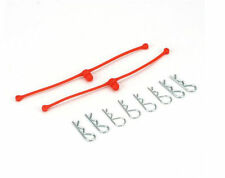 Dubro Racing Body Klip Retainers, Orange (2) DUB2252
