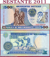 MOZAMBIQUE  MOZAMBICO - 500 METICAIS 16.6. 1991 - PREFIX AA - P 134 - FDS / UNC