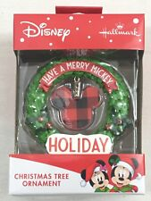 New Hallmark Disney Mickey Mouse Have A Merry Mickey Holiday Christmas Ornament