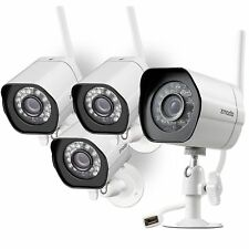Zmodo Wireless Security Camera System (4 pack) Smart Hd Outdoor WiFi Ip Cameras