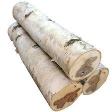 Large White Birch Fireplace Log Set of Three