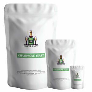 Champagne Yeast for All SPARKLING Wine & Cider Super Yeast by Cooper & Sons