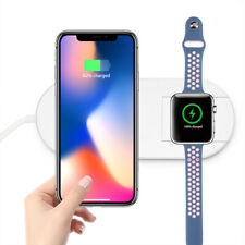 2 in 1 Qi Wireless Charger Fast Charging Pad For Apple iWatch & iPhone 8, X/XS