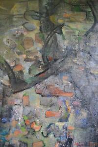 Tableau huile sur toile ABSTRAIT MAICE LE BARON Eleve de Marcel Gromaire