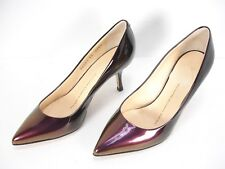 GIUSEPPE ZANOTTI DESIGN SHIMMER PATENT LEATHER CLASSIC PUMPS SHOES WOMEN'S 35