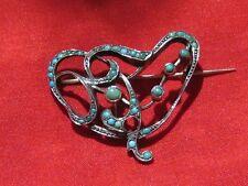 antica spilla liberty oro argento turchesi - antique liberty pin gold silver tur